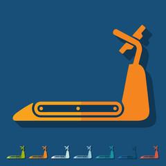 Flat design: treadmill