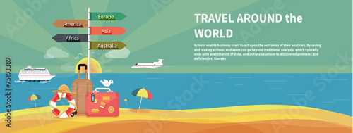 Icons set of traveling and planning vacation - 75193389