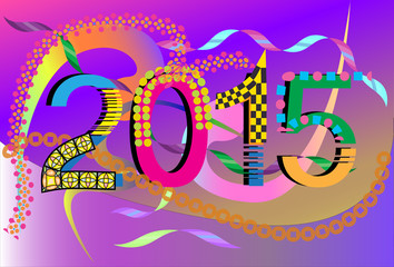 number new years design
