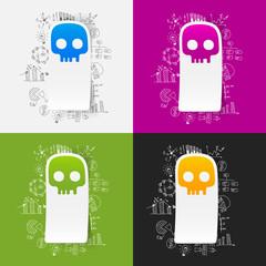 Drawing business formulas: skull