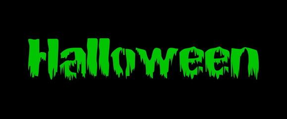 bloody halloween green text