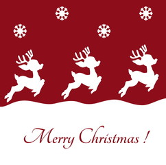 reindeer on Christmas background