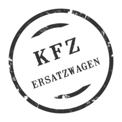 sk396 - KFZ-Stempel - Kfz Ersatzwagen kfz157 g2884