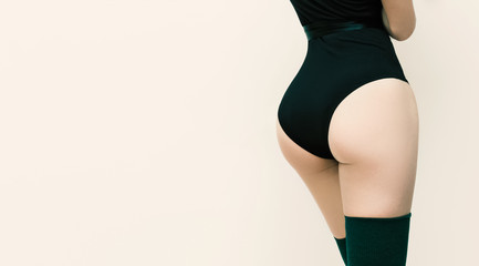 Slim body and buttocks. Women's beauty