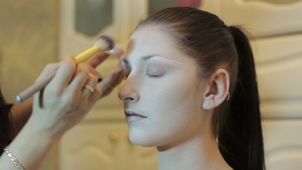 applying foundation cream