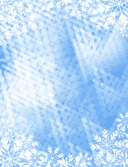 frosty background with copy space - vector