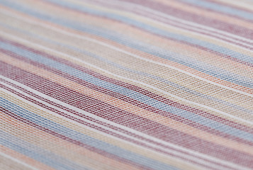 background of textured cotton color striped