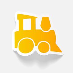 realistic design element: childrens train