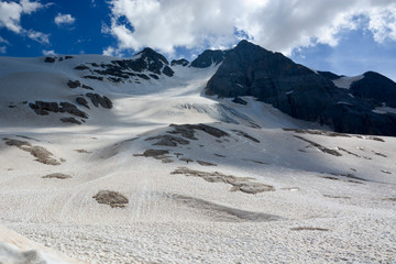 Year in high mountain