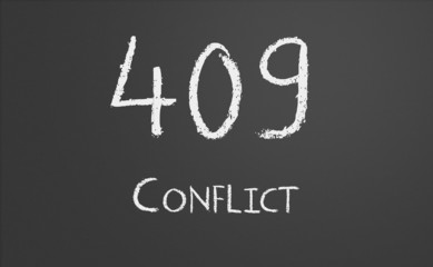 HTTP Status code 409 Conflict