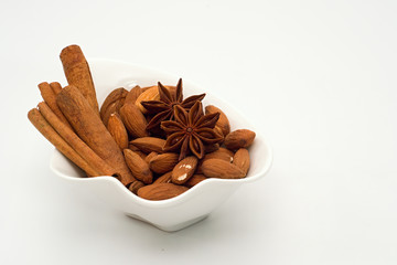 Mix of spices and almonds