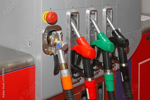 Leinwanddruck Bild CNG gas pump