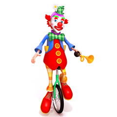 Clown 3d illustration