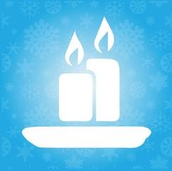 Christmas candle art