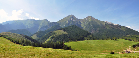 Panoramic view of the mountains Belianske Tatry, Slovakia