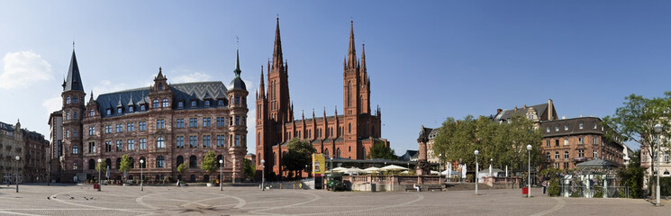 Marktplatz  Wiesbaden Panorama