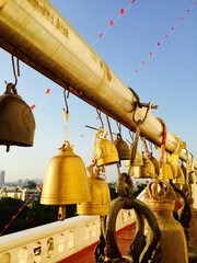 many bells hanking in temple