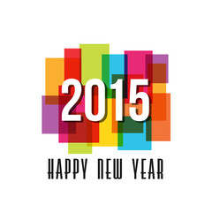 2015 Happy New Year rectangles background.Vector design