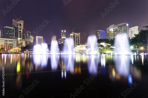 music fountain in the square of KLCC,kuala lumpur