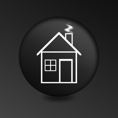 concept of house black icon
