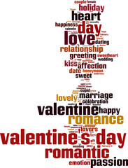 Valentine's Day word cloud concept. Vector illustration