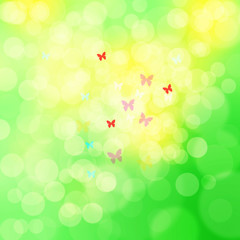 Blurry sunny spring abstract background