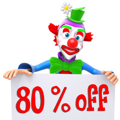 Clown christmas sale 80 percent discount