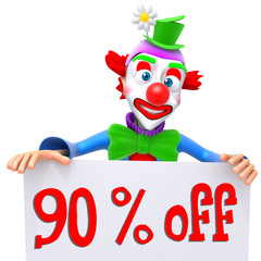 Clown christmas sale 90 percent discount