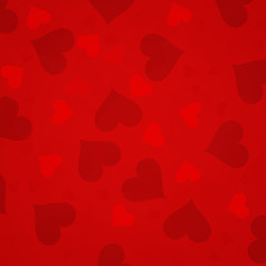 Simple red hearts background