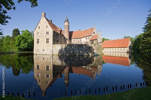 Leinwanddruck Bild Burg Vischering in Lüdinghausen, NRW, Deutschland