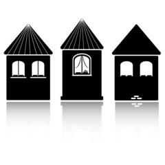 Building Icons Set. castle design