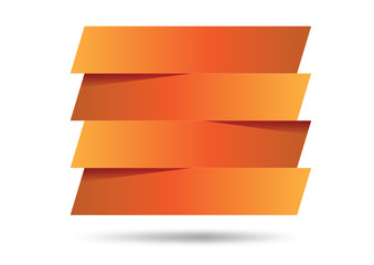 orange paper banner