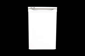 freezer isolated on a black background