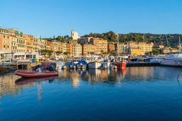 Rapallo, Italy, marina at surise