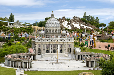 The Cathedral of St. Peter in the Vatican, Park Italy in miniatu