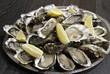 huîtres ouvertes sur un plat - 75209305