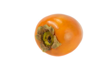close up of persimmon isolated over white
