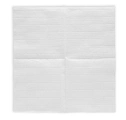 Unfolded paper napkin