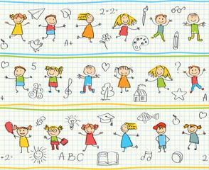 Seamless ornamental pattern for kids