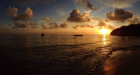 panorama sunset