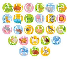 Cute animal alphabet. Set