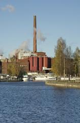 Tammerkoski channel in Tampere. Finland