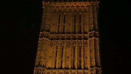 Big Ben, close up, at night