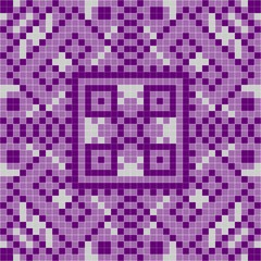 Purple tile with square mosaic