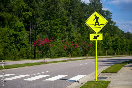 Poster Standbeeld Pedestrian crossing