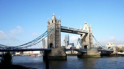 Tower Bridge in a sunny day, weather variety