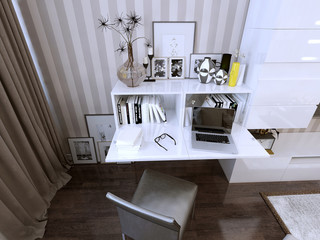 wall storage and bookcase in modern style