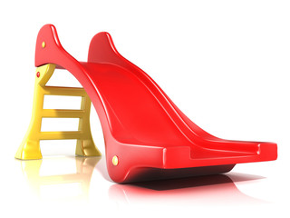 Children slide, isolated on white background