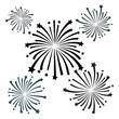 black firework vector - 75212506