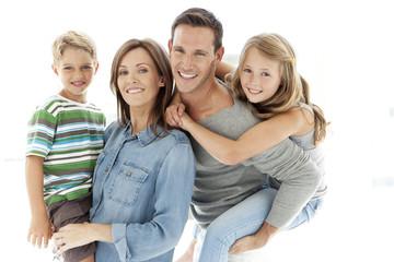 Portrait of a happy standard Caucasian family